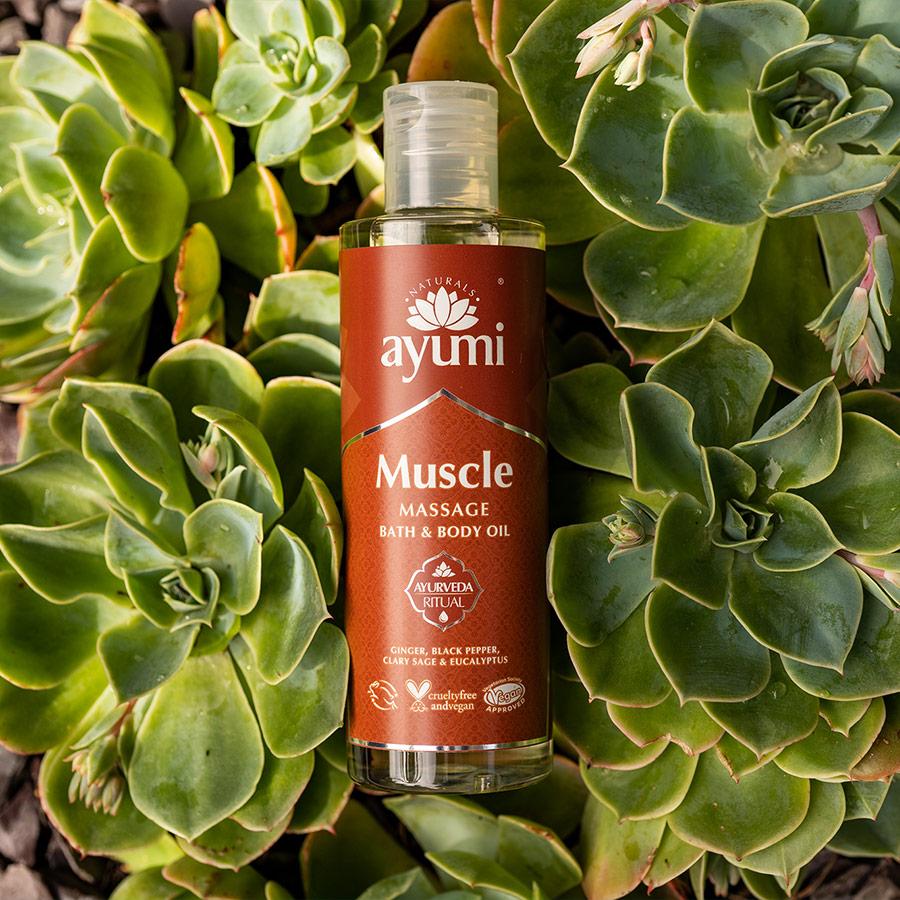 Ayumi Muscle Massage Bath and Body Oil 3
